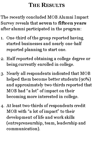 text: MOB Alumni Impact