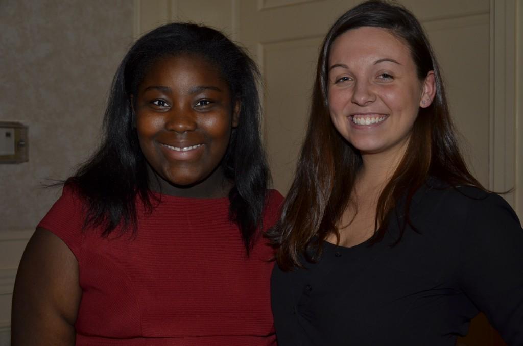 Nnena Eke, MOB student, and Carlee Leach, MOB mentor