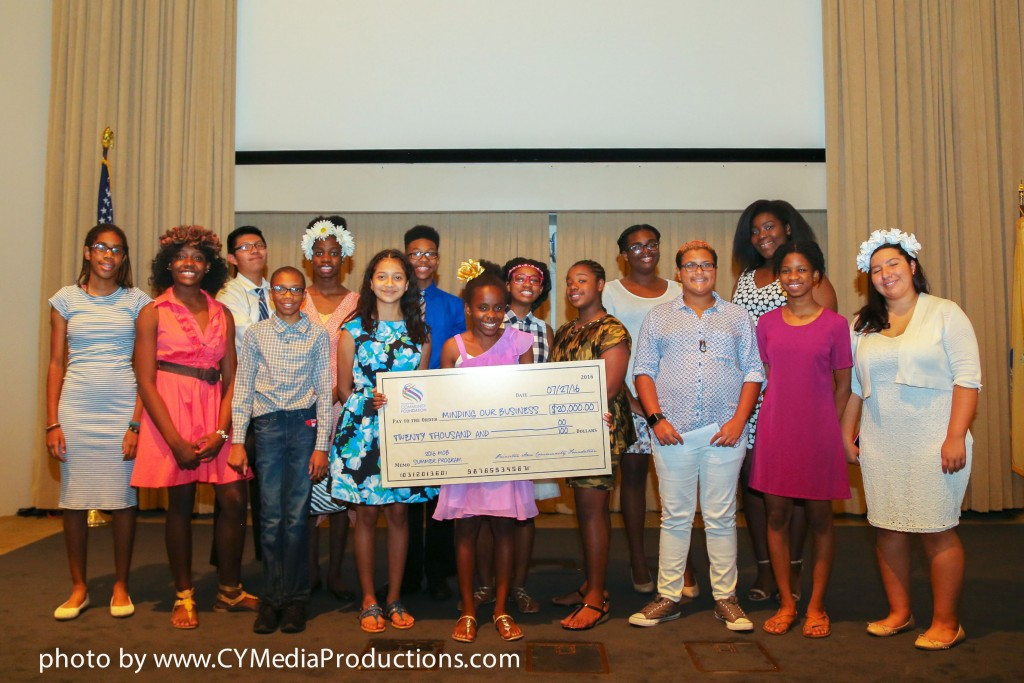 BPC Finalists holding PACF $20,000 check
